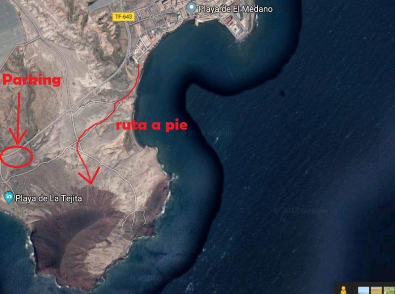 mapa ruta montaña roja